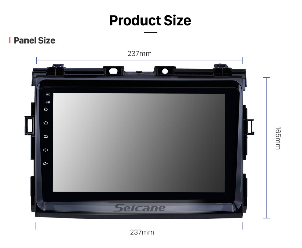 Seicane 2006 2007 2008-2012 Toyota Previa Android 10.0 Touchscreen 9 inch Head Unit Bluetooth GPS Navigation Radio with AUX support OBD2 DVR SWC Carplay