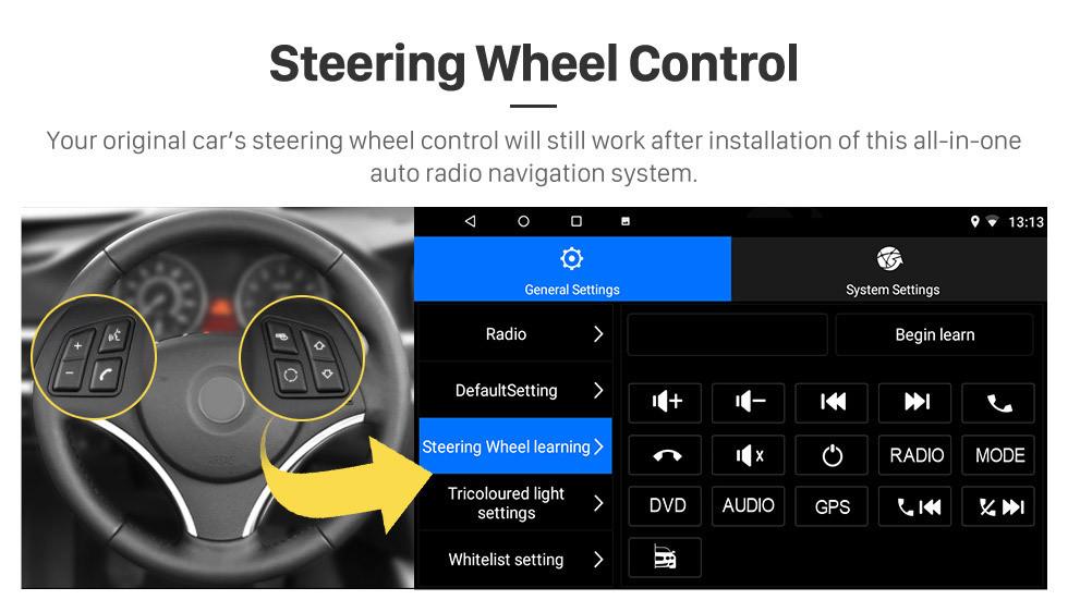 Seicane Android 10.0 Pantalla táctil GPS de 9 pulgadas Radio para VW Volkswagen Passat Polo Golf Skoda con Bluetooth USB compatible con WIFI Carplay TV digital