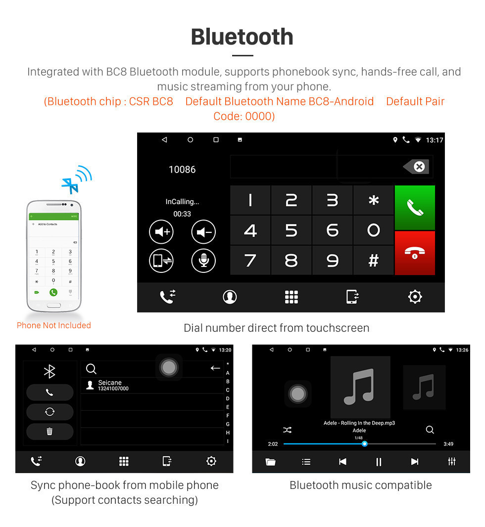 Seicane Android 10.0 2011 2012-2015 KIA K2 HD Touchscreen Radio GPS Navigation Stereo with Bluetooth WIFI USB 1080P Video TV Mirror Link