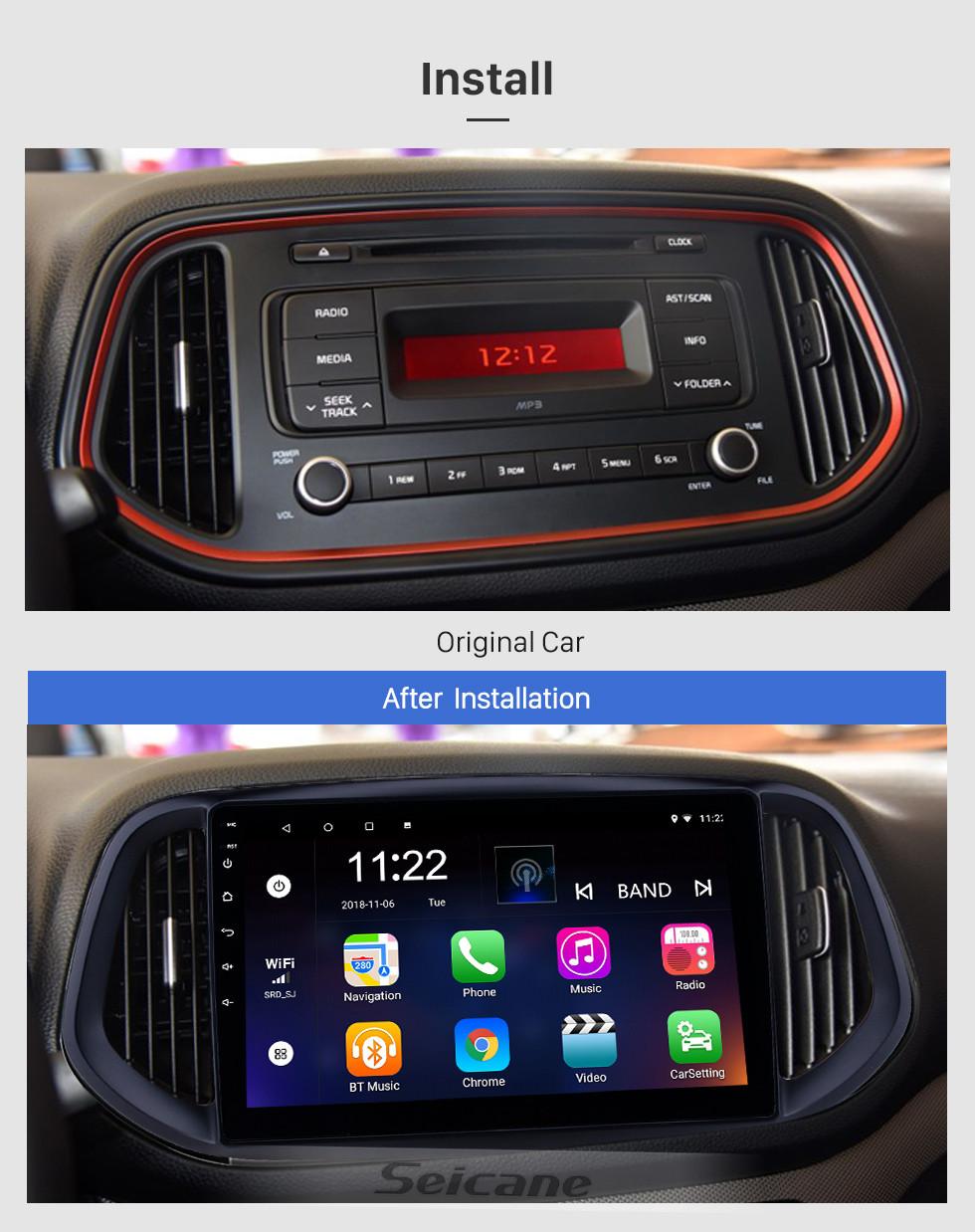 Seicane 10.1 pulgadas Android 10.0 2014 2015 2016 2017 Kia KX3 Radio de navegación GPS con Bluetooth HD Pantalla táctil WIFI Soporte de música TPMS DVR Carplay TV digital
