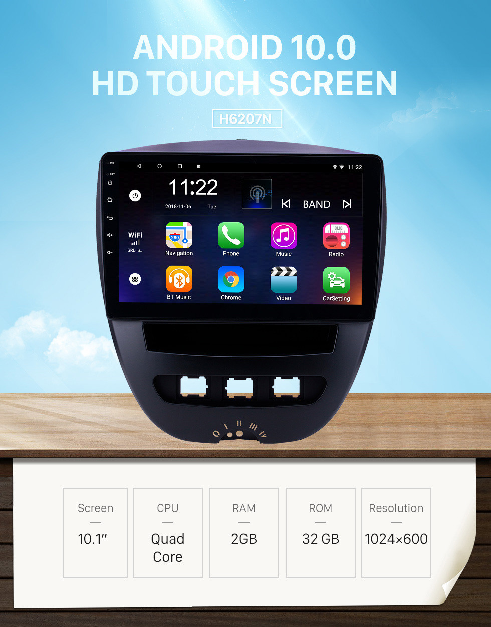 Seicane 10.1 inch Android 10.0 2005-2014 Citroen GPS Navigation Radio with Bluetooth HD Touchscreen WIFI USB support Carplay Steering Wheel Control TPMS