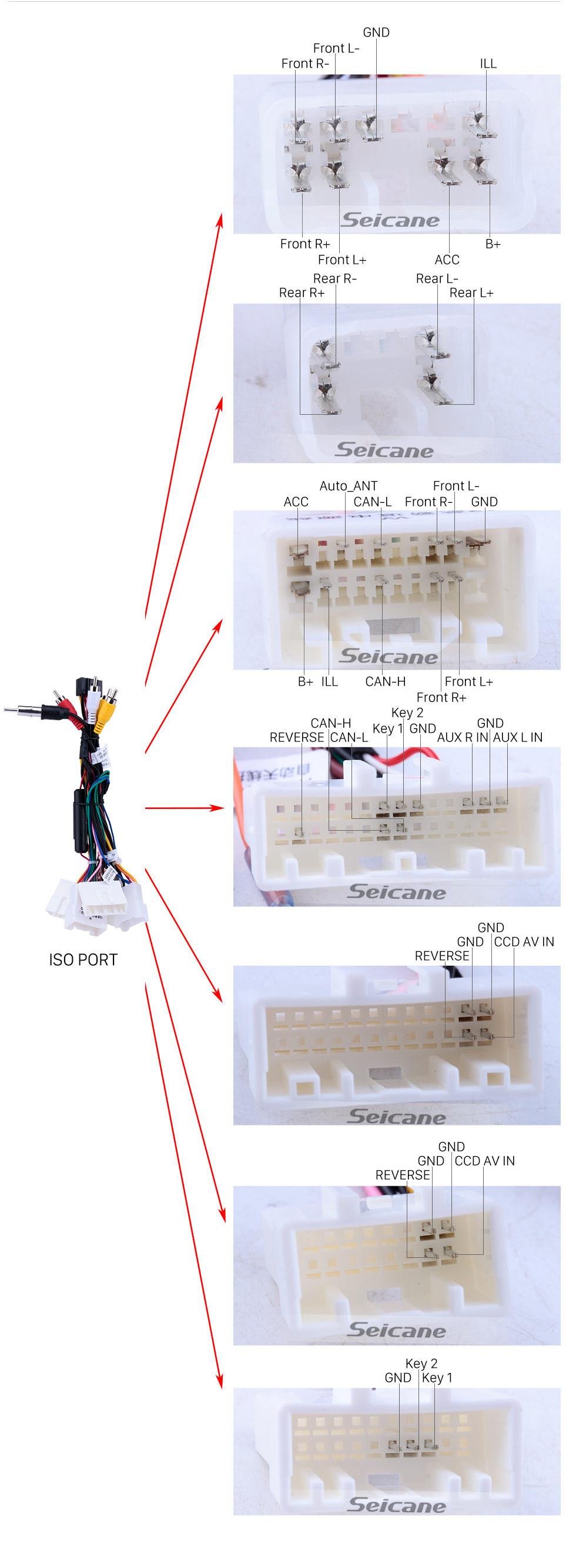 Seicane 10,1 polegadas Android 10.0 2005-2014 Citroen Rádio de Navegação GPS com Bluetooth HD Touchscreen WIFI Suporte USB Carplay Controle de Volante TPMS