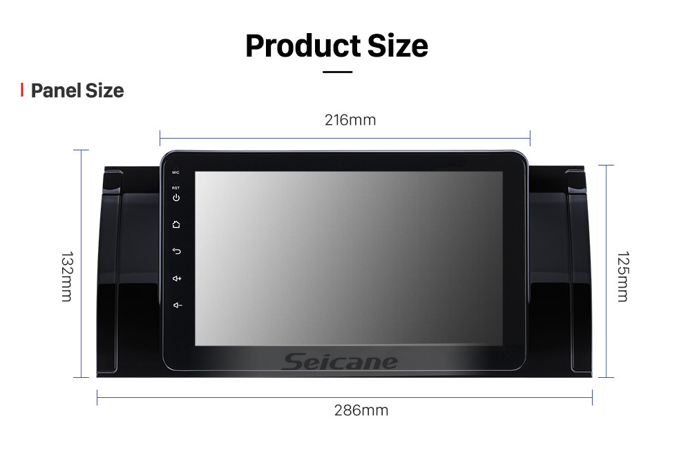 Seicane 8 inch 1994-2003 BMW 5 Series E39 520i 523i 525i M5 BMW 7-serie E38 BMW X5 E53 BMW M5 Range Rover HD Touchscreen Android 10.0 GPS Navigation Radio WIFI Bluetooth Music AUX support Backup camera Carplay