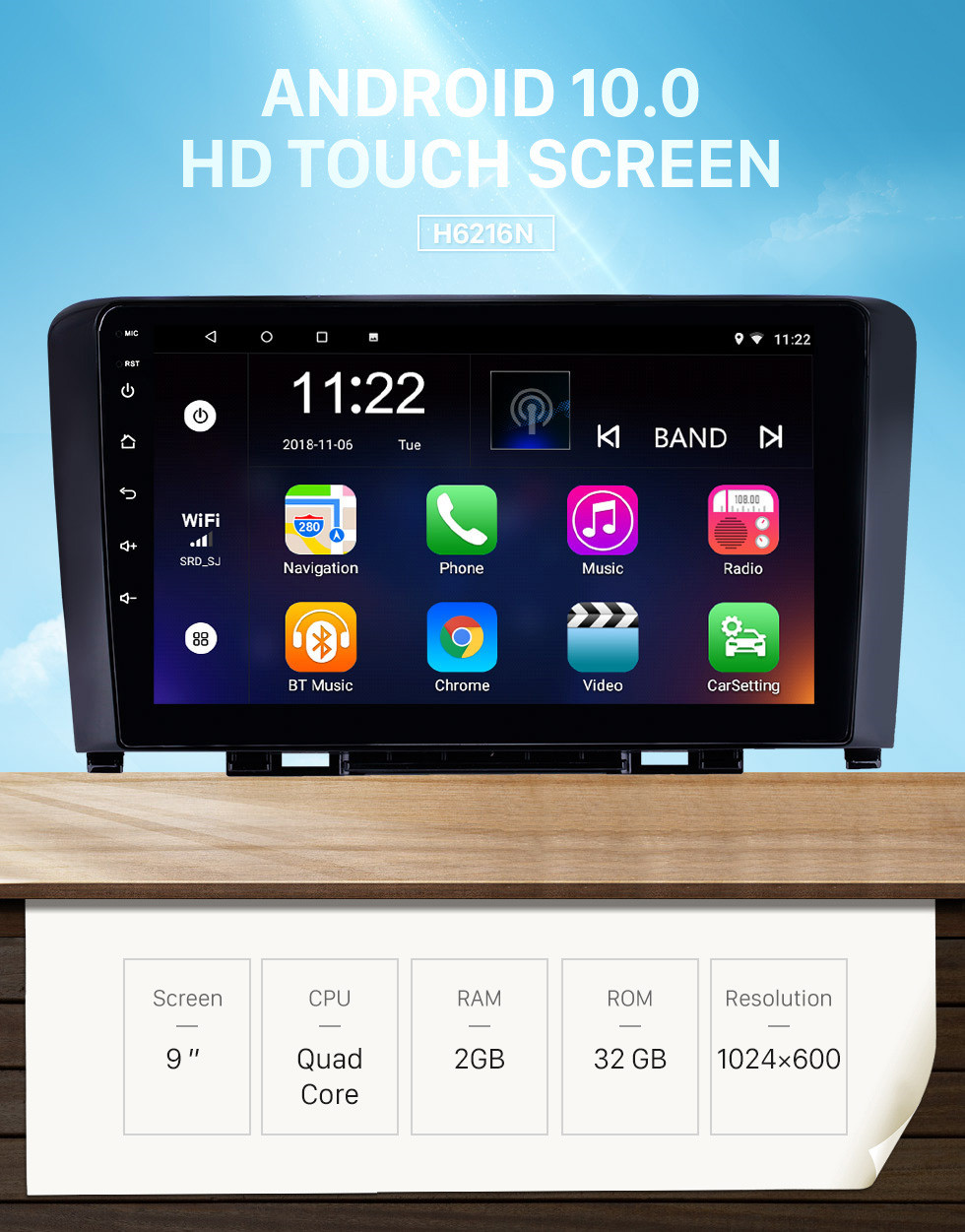 Seicane 2011-2016 Great Wall Haval H6 9 inch Android 10.0 HD Touchscreen Bluetooth GPS Navigation Radio USB AUX support Carplay 3G WIFI Mirror Link TPMS