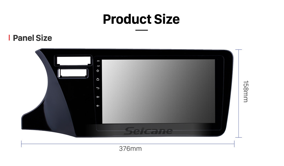 Seicane HD Touchscreen 9 inch Android 10.0 GPS Navigation Radio for 2014-2017 Honda City LHD with Bluetooth AUX Music support Carplay Steering Wheel Control