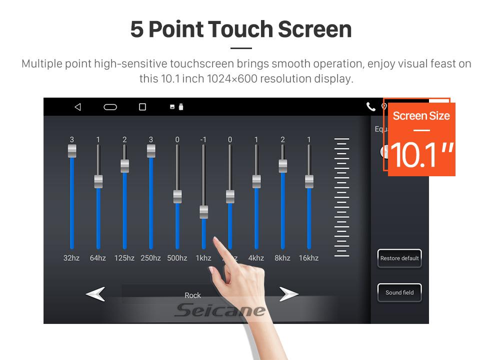 Seicane 10.1 pulgadas Android 10.0 HD Pantalla táctil GPS Radio Radio para 2015 2016 Toyota Alphard con Bluetooth USB WIFI AUX soporte Carplay SWC TPMS OBD