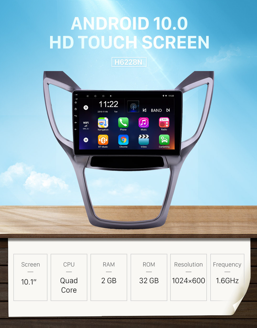 Seicane 10.1 inch Android 10.0 HD Touchscreen GPS Navigation Radio for 2013-2016 Changan CS75 with Bluetooth WIFI AUX support Carplay SWC Mirror Link