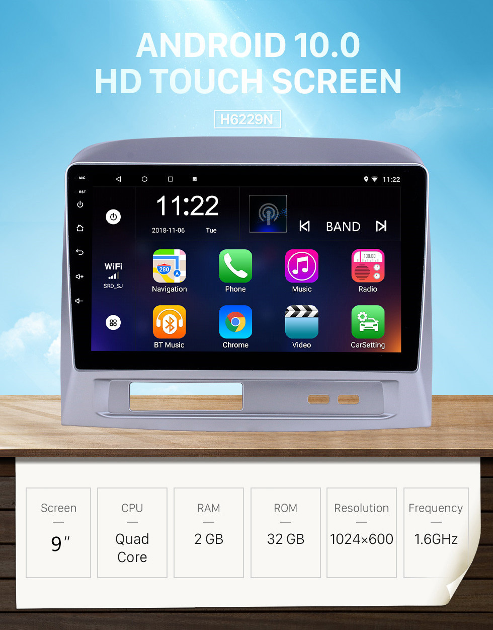 Seicane HD Touchscreen 9 inch Android 10.0 GPS Navigation Radio for 2004 Toyota Vios with Bluetooth AUX Music support DVR Carplay Steering Wheel Control