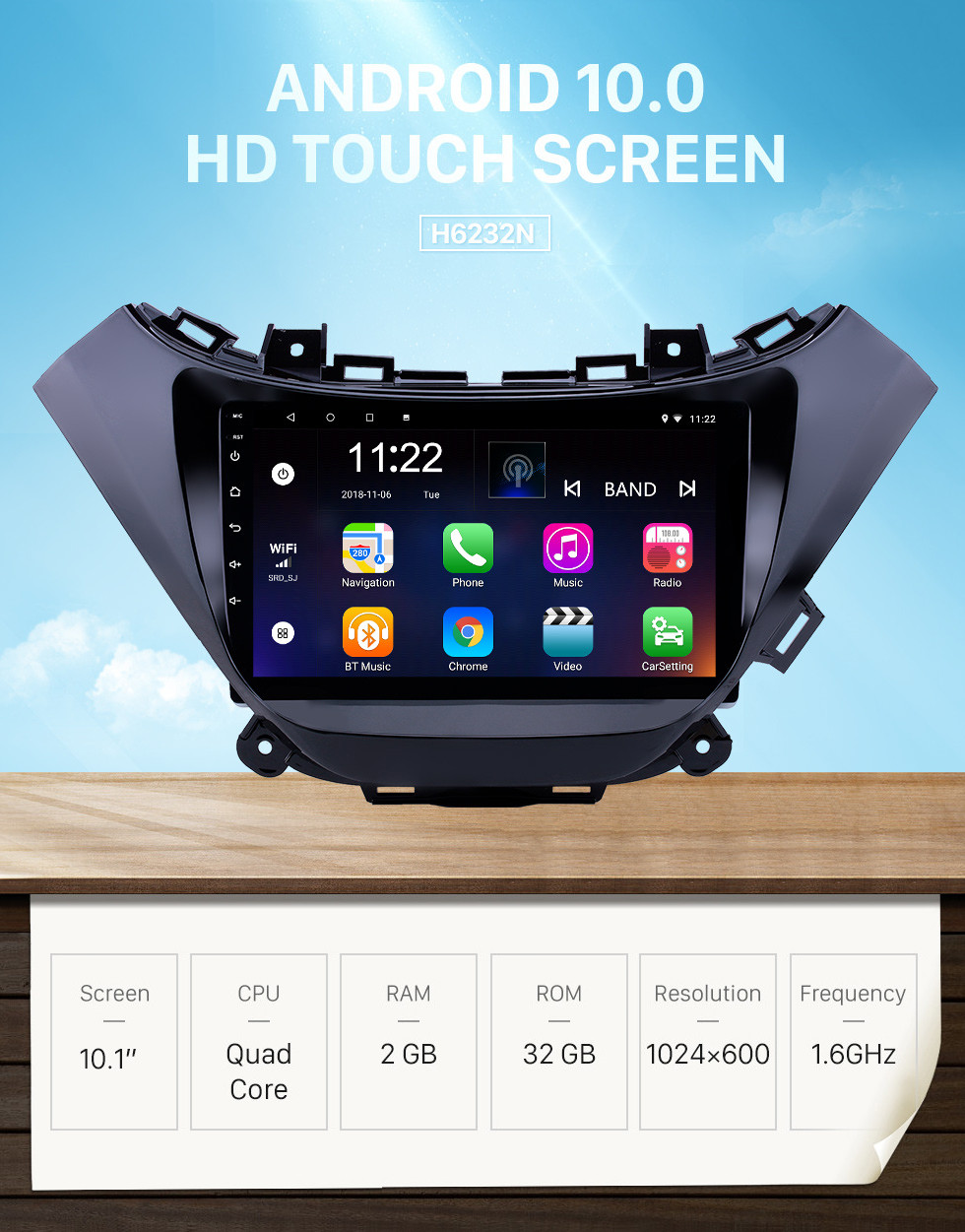 Seicane Android 10.0 9 inch Touchscreen GPS Navigation Radio for 2015-2016 chevy Chevrolet malibu with Bluetooth USB WIFI support Carplay SWC Rear camera