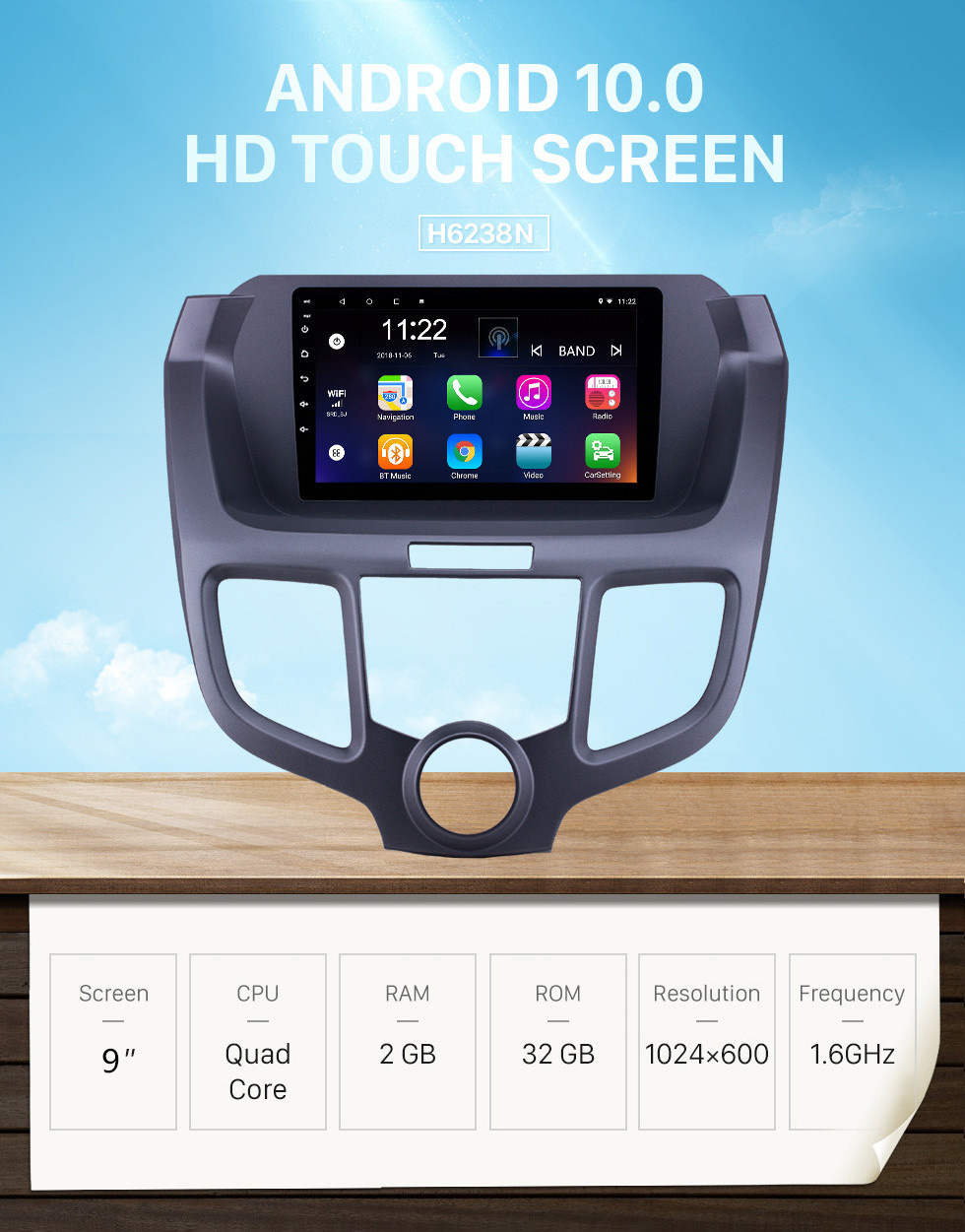 Seicane Android 10.0 9 inch HD Touchscreen GPS Navigation Radio for 2004-2008 Honda Odyssey with AUX Bluetooth support Carplay SWC DAB+