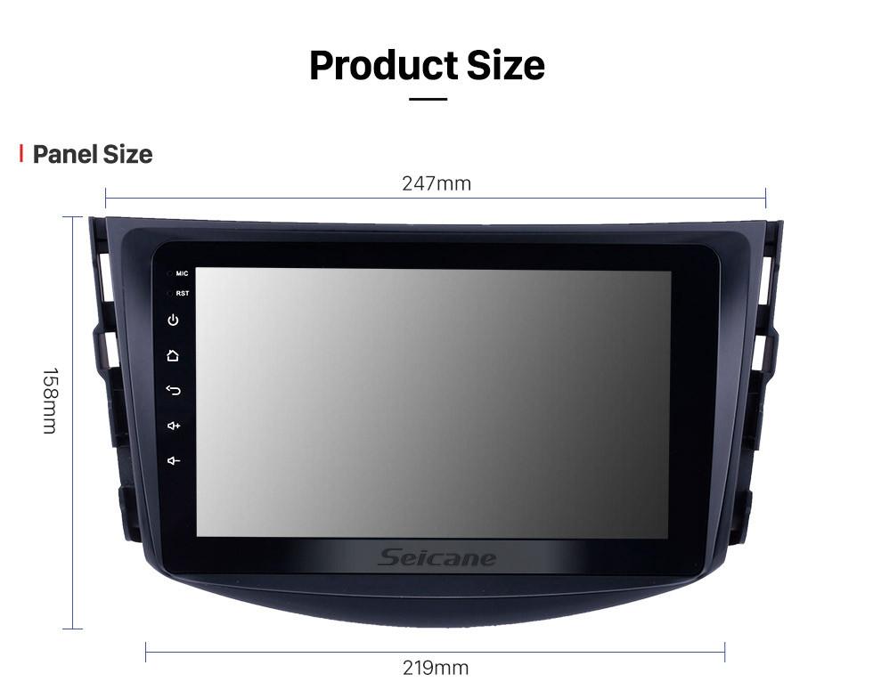 Seicane 8 inch 2007-2011 Toyota RAV4 Android 10.0 GPS Navigation Radio Bluetooth Music AUX HD Touchscreen support Digital TV Carplay DVR DAB+ TPMS