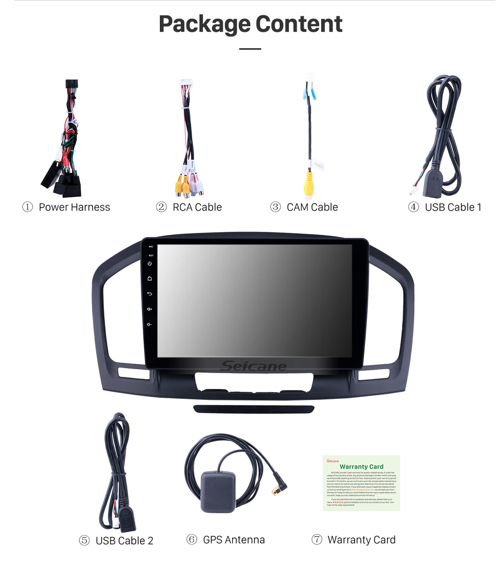 Seicane HD Touchscreen 9 inch Android 10.0 GPS Navigation Radio for 2009-2013 Buick Regal with Bluetooth AUX support Carplay Steering Wheel Control