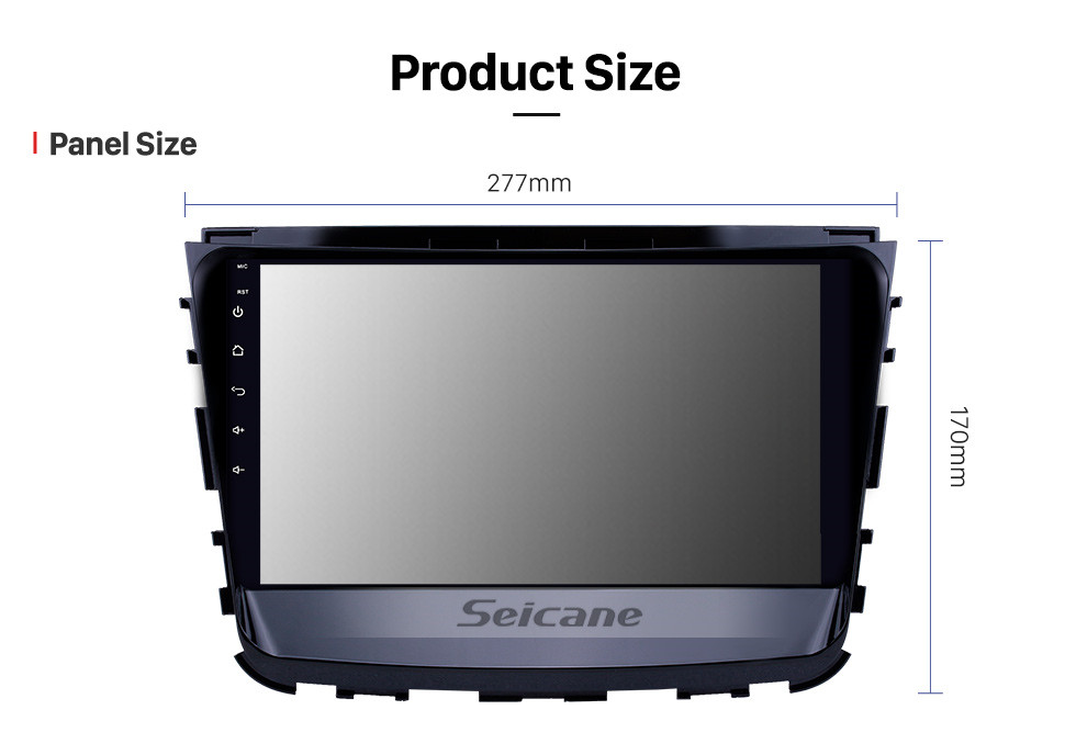 Seicane 10.1 inch Android 10.0 HD Touchscreen GPS Navigation Radio for 2019 Ssang Yong Rexton with Bluetooth WIFI AUX support Carplay Mirror Link