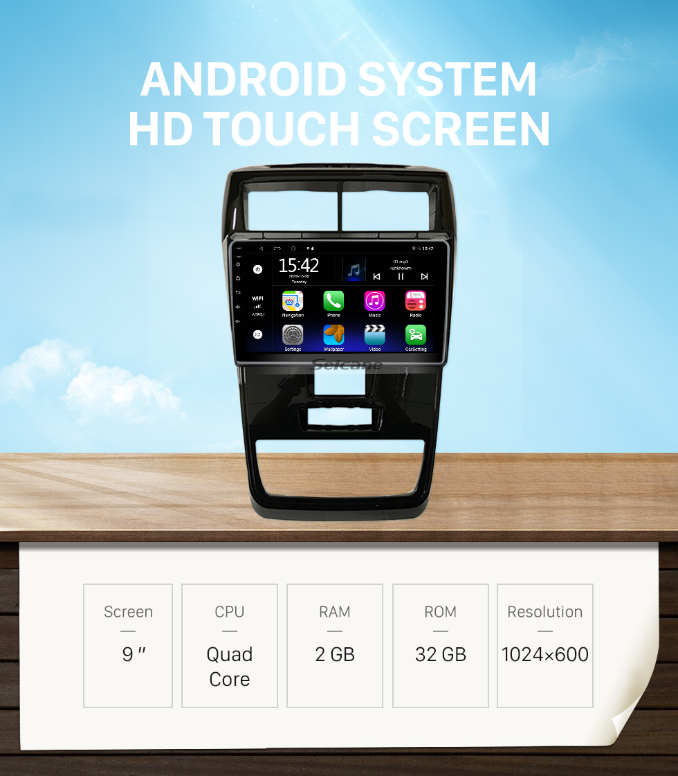 Seicane HD Touchscreen 9 inch Android 10.0 GPS Navigation Radio for 2009-2014 Toyota Alphard/Vellfire ANH20 with Bluetooth AUX support Carplay DAB+ DVR