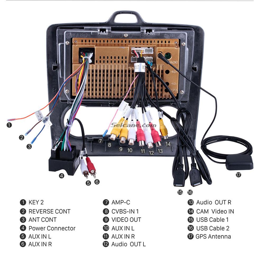 Seicane 9 pouces HD Touchscrren Android 10.0 2004-2011 Ford Focus Exi AT Radio avec navigation GPS WIFI Bluetooth USB Musique 1080P Vidéo Lien de rétroviseur Caméra de Recul
