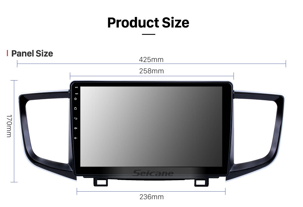 Seicane 10.1 inch Android 10.0 GPS Navigation Radio for 2016-2018 Honda Pilot with HD Touchscreen Bluetooth WIFI support Carplay SWC