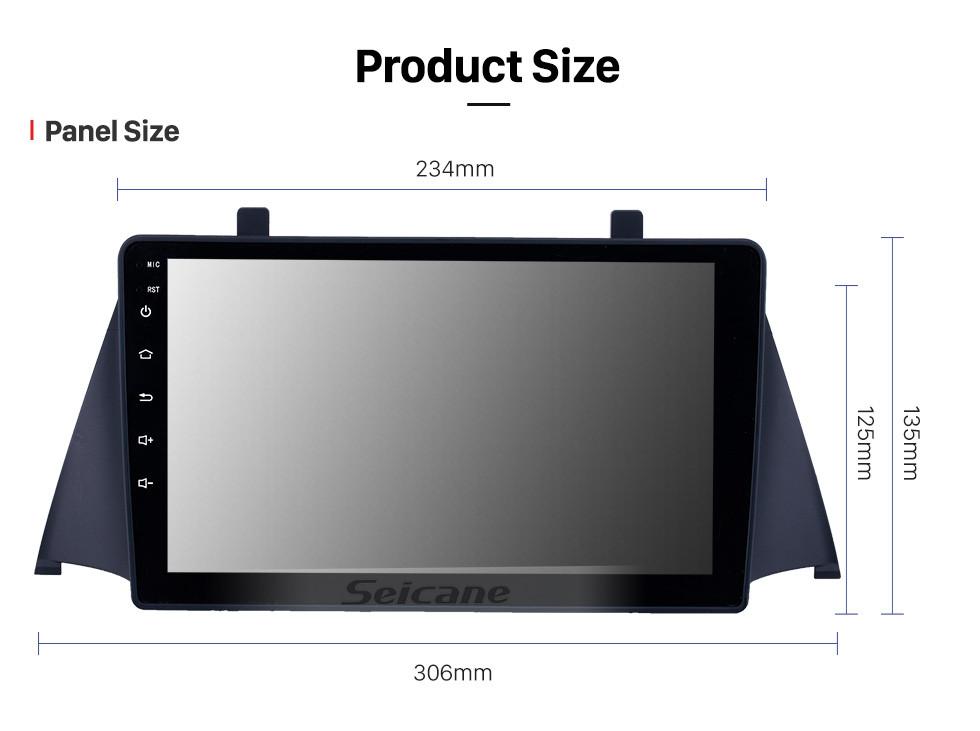 Seicane HD сенсорный экран 9-дюймовый Android 10.0 GPS-навигатор для 2015 Zotye Domy x5 с поддержкой Bluetooth AUX WIFI Carplay DAB + DVR TPMS