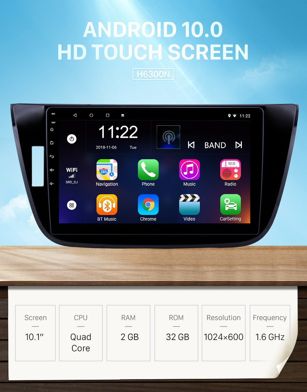 Seicane 10.1 inch Android 10.0 HD Touchscreen GPS Navigation Radio for 2017-2018 Changan LingXuan with Bluetooth support Carplay Mirror Link