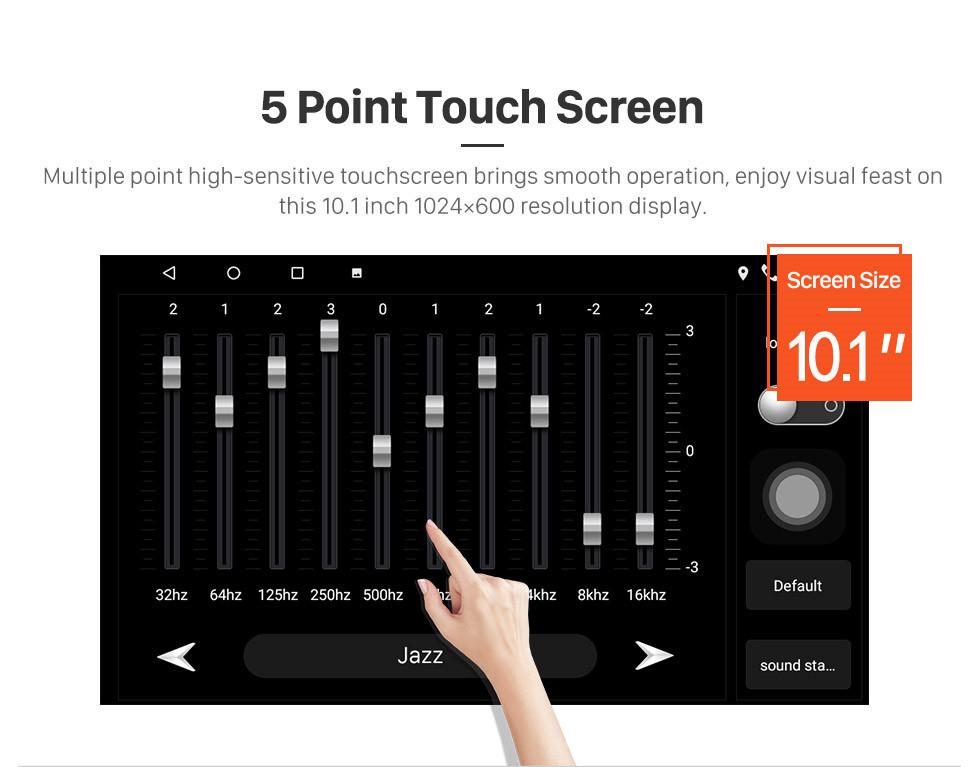 Seicane 10,1-дюймовый Android 10.0 GPS навигационное радио для Toyota Cruiser 2006 года с сенсорным экраном HD Bluetooth Поддержка USB Carplay TPMS