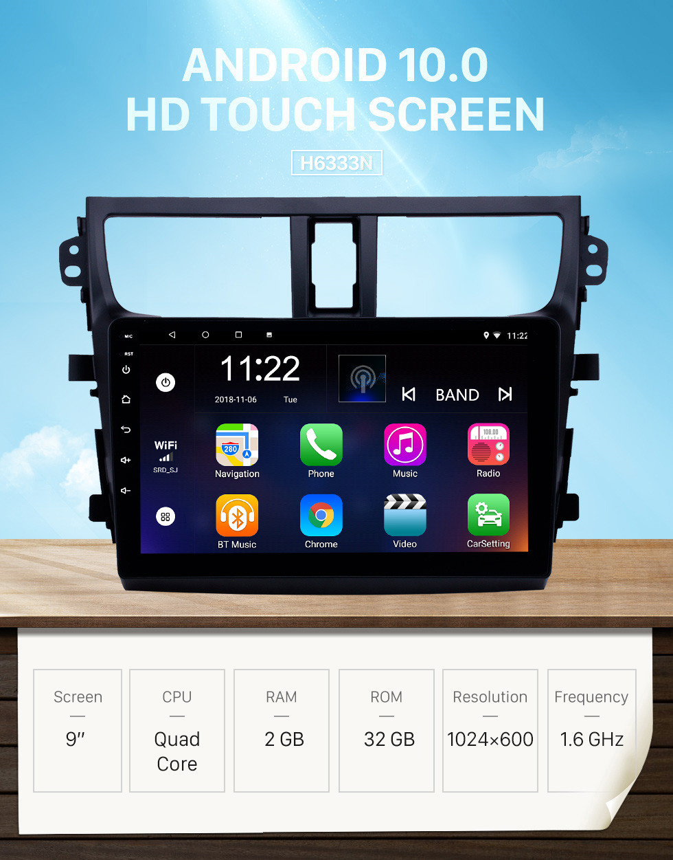 Seicane 2015-2018 Suzuki Celerio Android 10.0 HD Touchscreen 9 inch Head Unit Bluetooth GPS Navigation Radio with AUX support OBD2 SWC Carplay