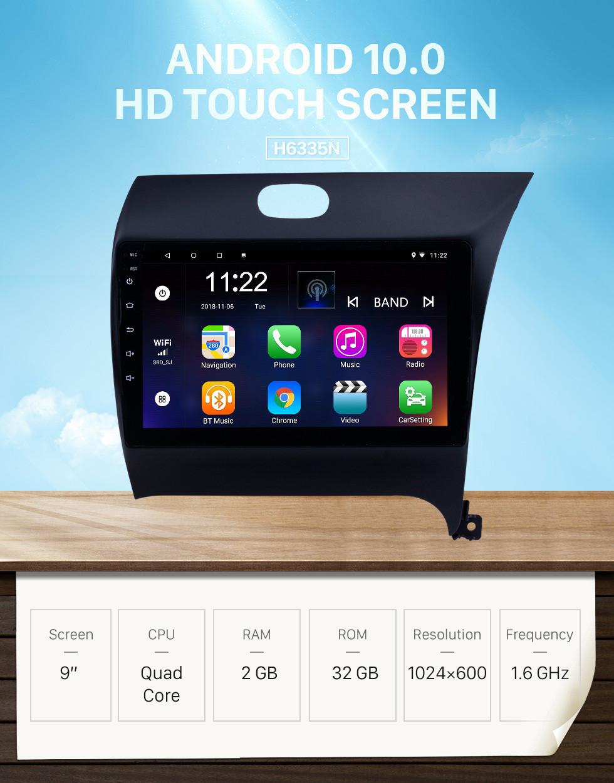 Seicane OEM 9 inch Android 10.0 Radio for 2012-2016 Kia K3 RHD Bluetooth WIFI HD Touchscreen GPS Navigation support Carplay Rear camera
