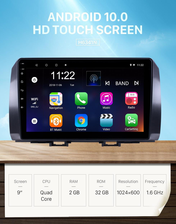 Seicane 10,1 polegadas Android 10.0 GPS Rádio de Navegação para 2006 Toyota B6 / 2008 Subaru DEX / 2005 Daihatsu WO com suporte a Bluetooth Touchscreen Carplay TPMS