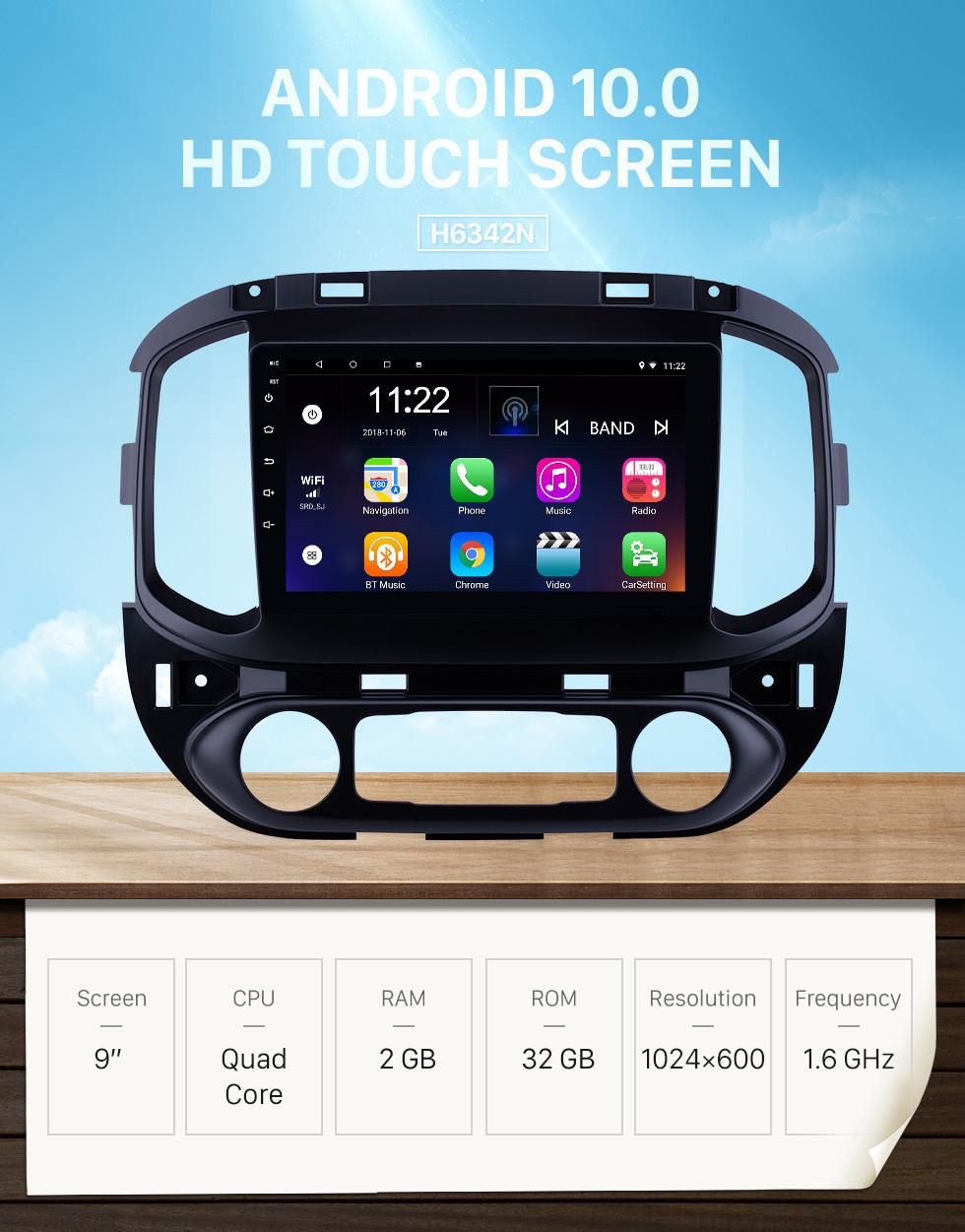 Seicane OEM 9 inch Android 10.0 Radio for 2015-2017 chevy Chevrolet Colorado Bluetooth HD Touchscreen GPS Navigation support Carplay Rear camera
