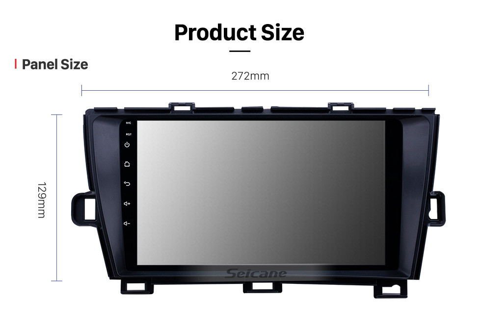 Seicane 2009-2013 Toyota Prius LHD Android 10.0 HD Touchscreen 9 inch AUX Bluetooth WIFI USB GPS Navigation Radio support SWC Carplay