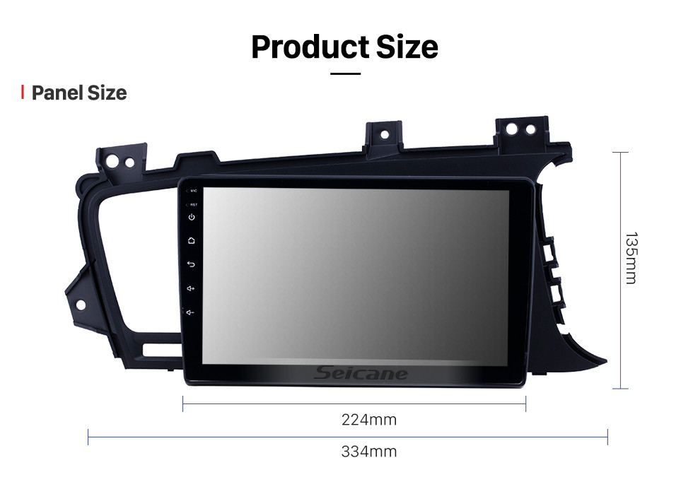Seicane OEM 9 inch Android 10.0 Radio for 2011-2014 Kia K5 RHD Bluetooth HD Touchscreen GPS Navigation support Carplay Rear camera