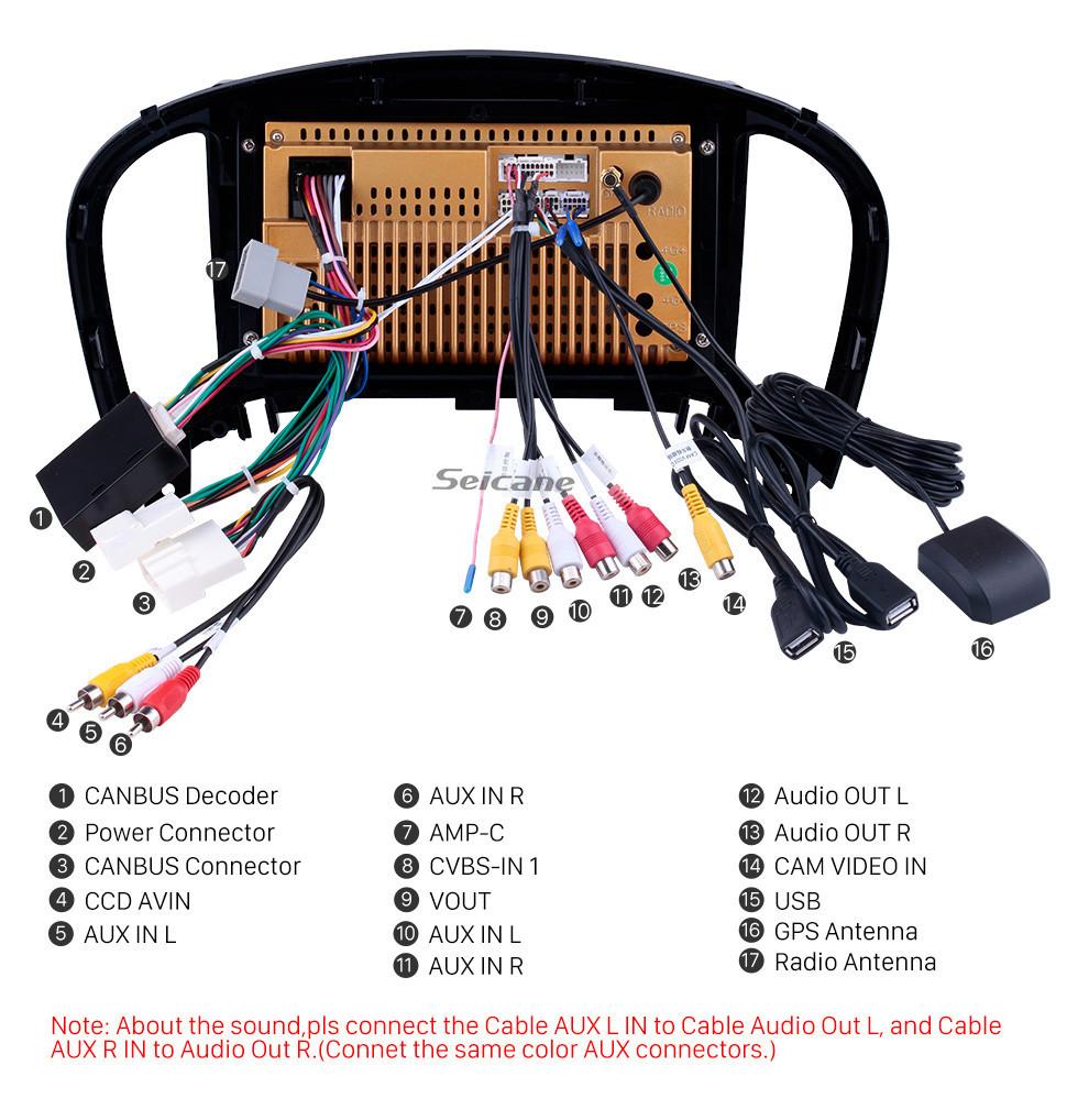 Seicane 2011-2016 Nissan Infiniti ESQ/Juke Android 10.0 HD Touchscreen 9 inch AUX Bluetooth WIFI USB GPS Navigation Radio support OBD2 SWC Carplay