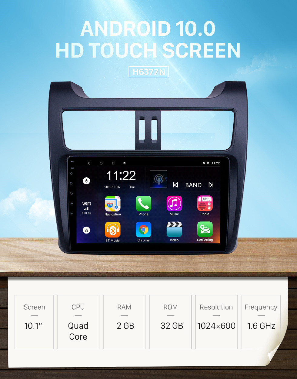 Seicane 10.1 inch Android 10.0 GPS Navigation Radio for 2018 SQJ Spica With HD Touchscreen Bluetooth support Carplay TPMS OBD2