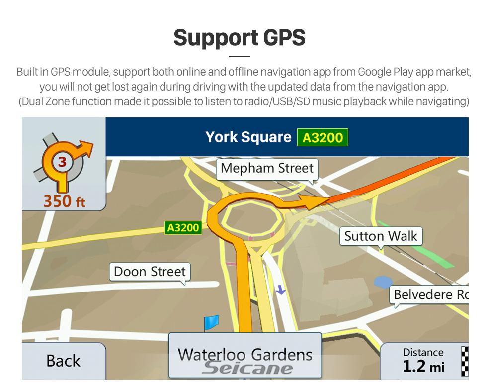 Seicane 10,1 pouces Android 10.0 Radio de navigation GPS pour 2002-2008 Old Mazda 6 avec écran tactile HD Prise en charge Bluetooth Carplay Commande au volant