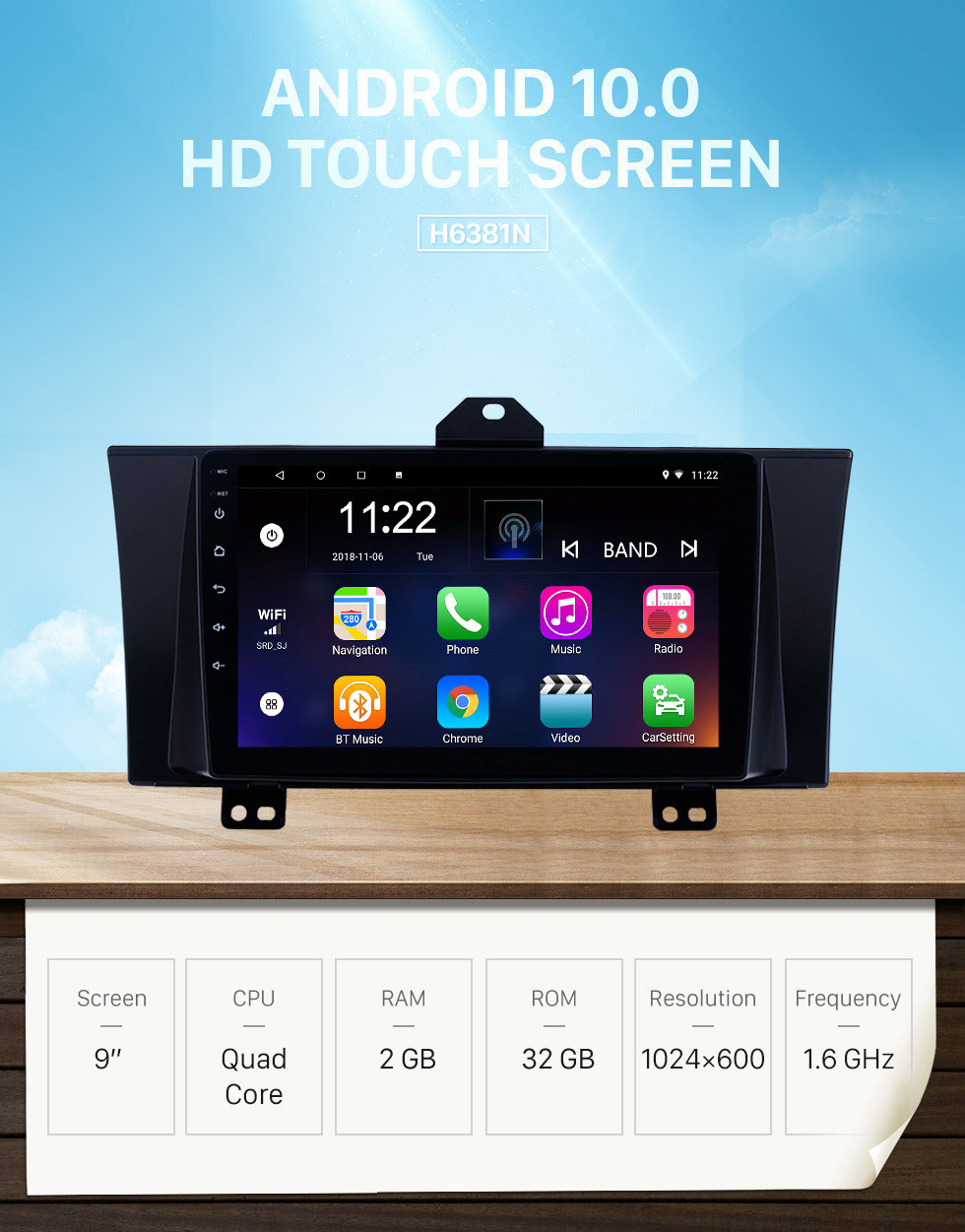 Seicane 9 inch Android 10.0 GPS Navigation Radio for 2012-2015 Honda Elysion With HD Touchscreen Bluetooth USB support Carplay TPMS