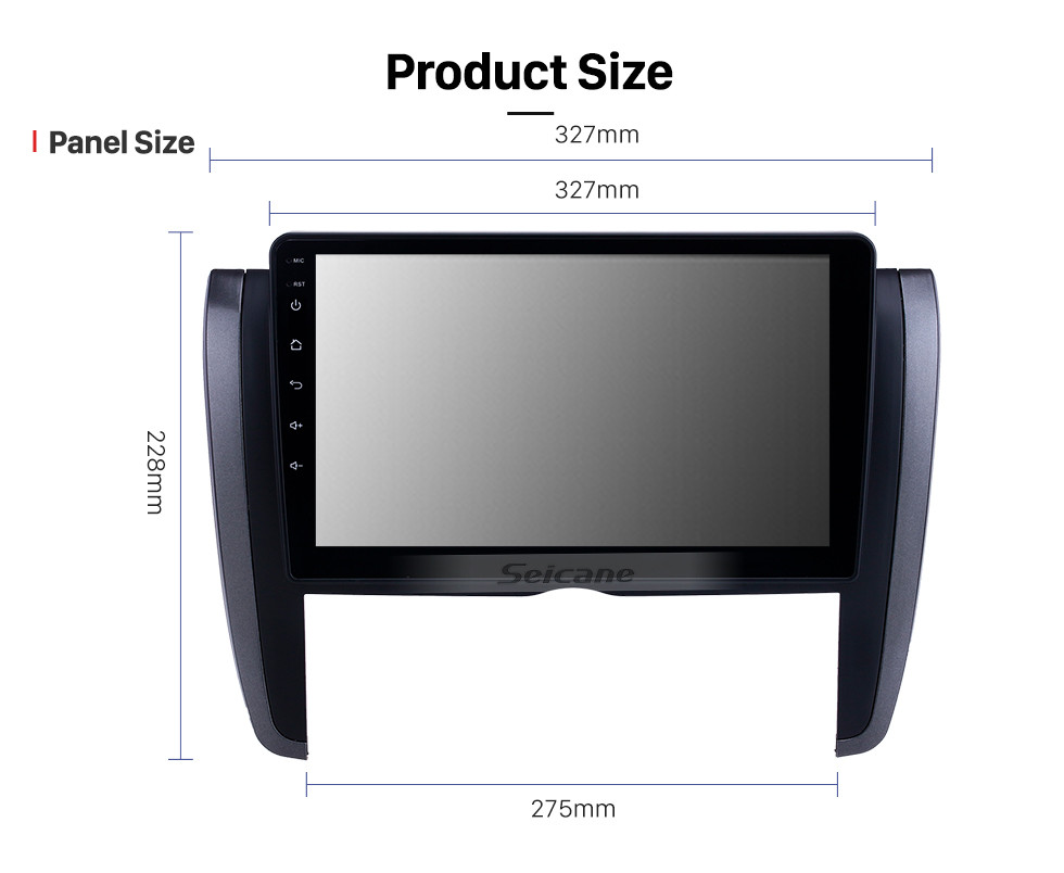 Seicane Android 10.0 9 inch HD Touchscreen GPS Navigation Radio for 2007-2015 Toyota Allion with Bluetooth USB AUX support Carplay DVR SWC