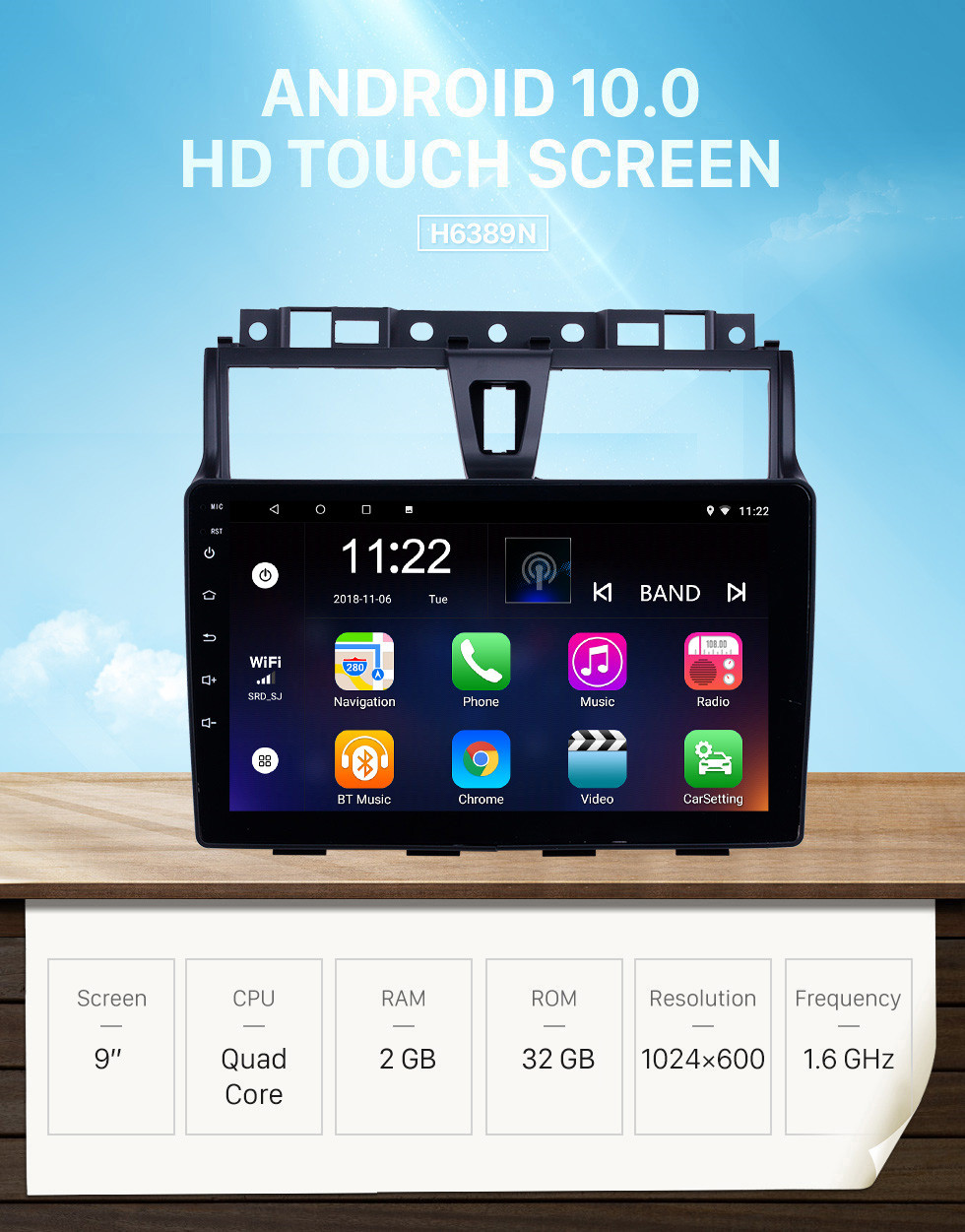 Seicane Android 10.0 9 inch HD Touchscreen GPS Navigation Radio for 2014-2016 Geely Emgrand EC7 with Bluetooth AUX support Carplay DVR SWC