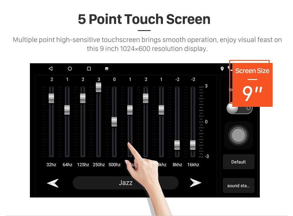 Seicane HD Touchscreen 9 Zoll Android 10.0 GPS Navigationsradio für 2014 Saipa Tiba mit Bluetooth AUX WIFI Unterstützung Carplay TPMS DAB +