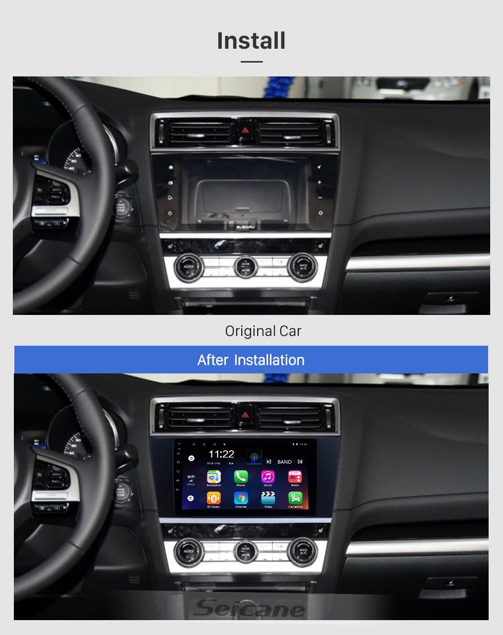 Seicane 9 polegadas Android 10.0 Rádio Navegação GPS para 2015-2018 Subaru Legacy Com HD Touchscreen Bluetooth suporte Carplay Câmera traseira