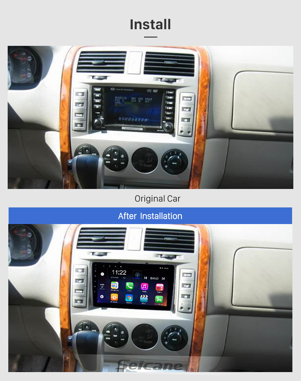 Seicane OEM 9 inch Android 10.0 Radio for 2010-2019 Kia Carnival with WIFI Bluetooth HD Touchscreen GPS Navigation support DVR Carplay