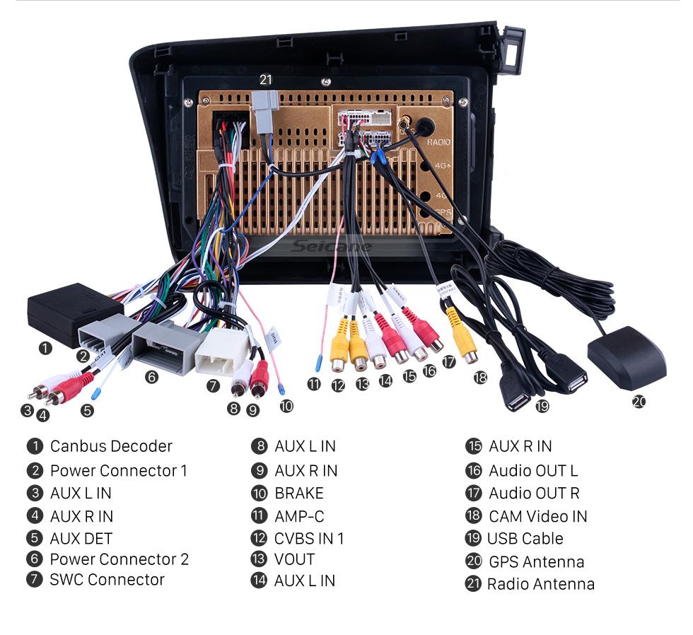 Seicane 10,1 Zoll Android 10.0 Radio GPS Auto Audio systeem für 2012 Honda Civic LHD mit Bluetooth Musik 3G W-lan Spiegel-Verbindung OBD2 HD 1024 * 600 Multi-Touch kapazitiven Bildschirm