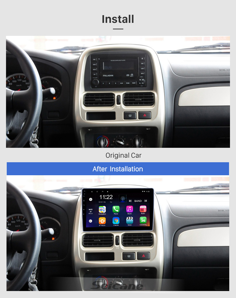Seicane 10.1 inch Android 10.0 GPS Navigation Radio for 2004-2013 Nissan Paladin With HD Touchscreen Bluetooth support Carplay Rear camera