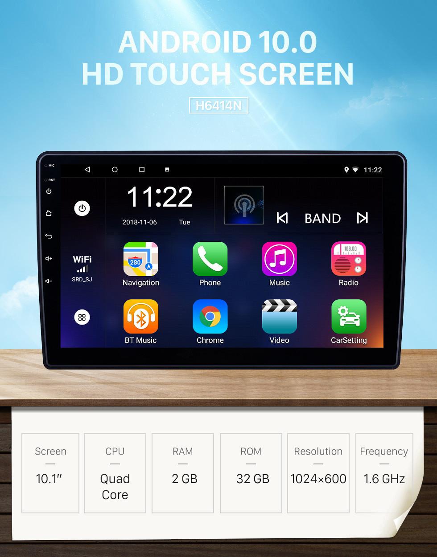 Seicane Radio de navegación GPS Android 10.0 con pantalla táctil HD de 10.1 pulgadas para Dodge / Jeep / Chrysler Universal con soporte Bluetooth Carplay DVR
