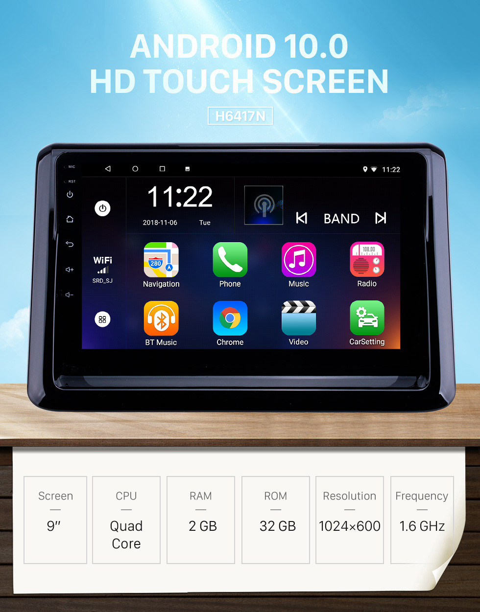 Seicane OEM 9 inch Android 10.0 Radio for 2014 Toyota Noah with Bluetooth WIFI HD Touchscreen GPS Navigation support DVR Carplay DAB+