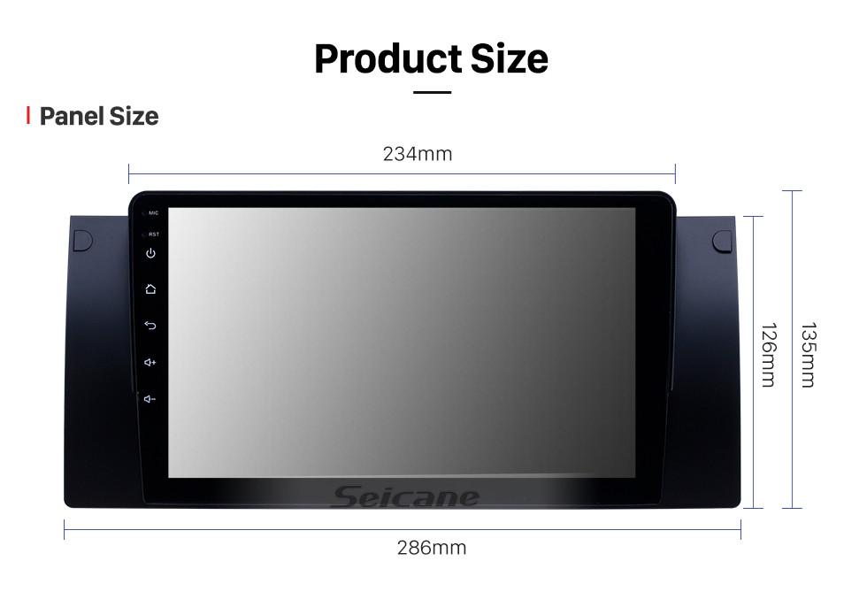 Seicane 1995-2003 BMW 5 серии E39 / X5 E53 Android 10.0 HD с сенсорным экраном 9 дюймов AUX Bluetooth GPS навигация Поддержка радио SWC Carplay
