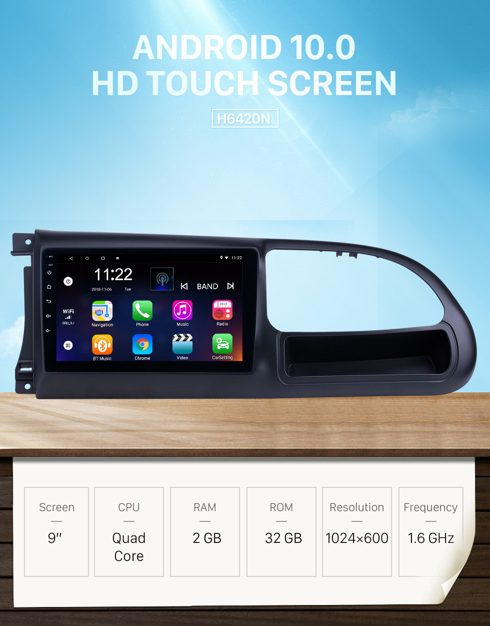 Seicane Android 10.0 9 inch HD Touchscreen GPS Navigation Radio for 2017-2019 Ford Teshun with Bluetooth support Carplay DVR OBD2
