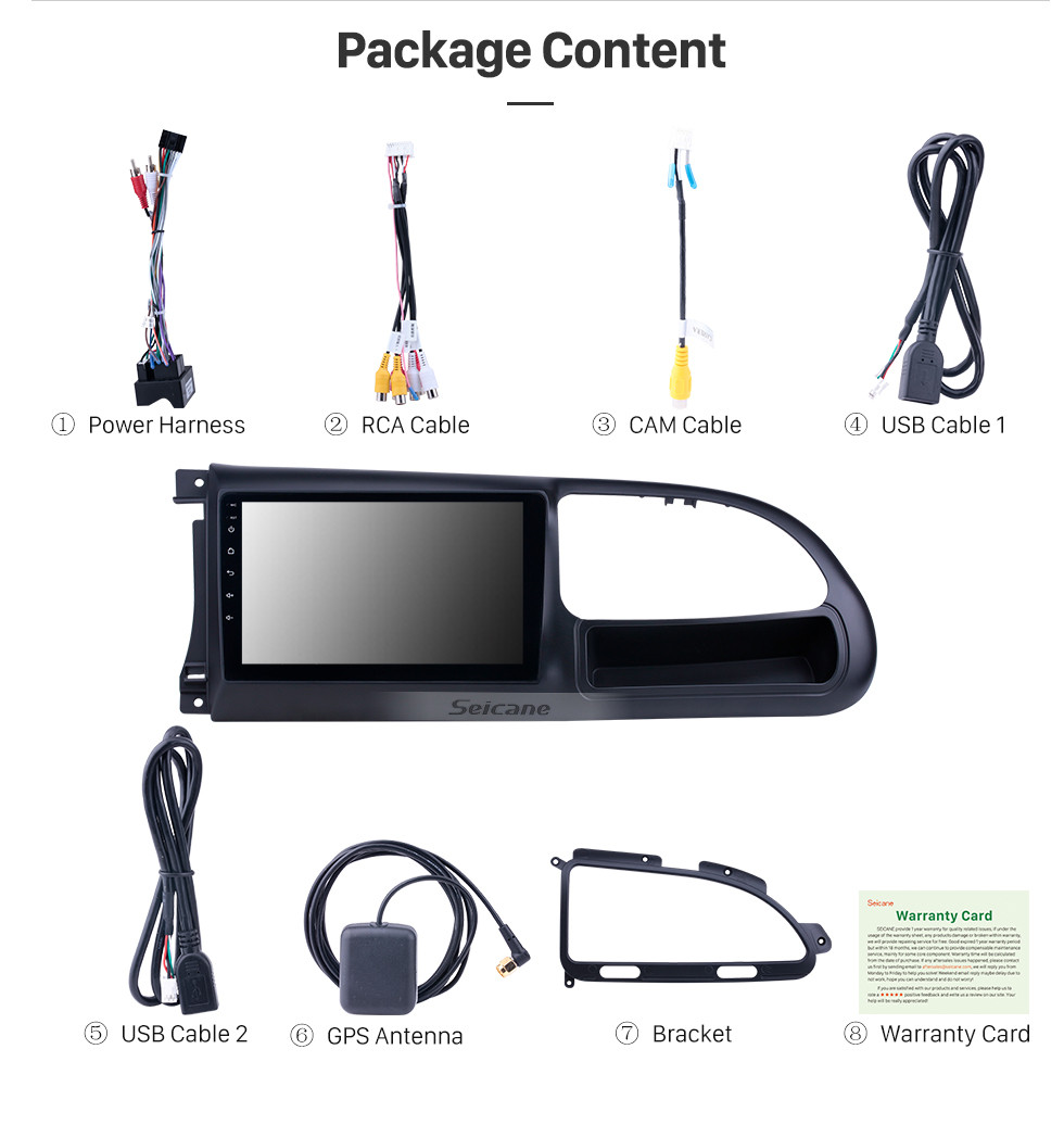 Seicane OEM 9 inch Android 10.0 Radio for 2010-2016 Ford Transit Bluetooth HD Touchscreen GPS Navigation support Carplay Rear camera