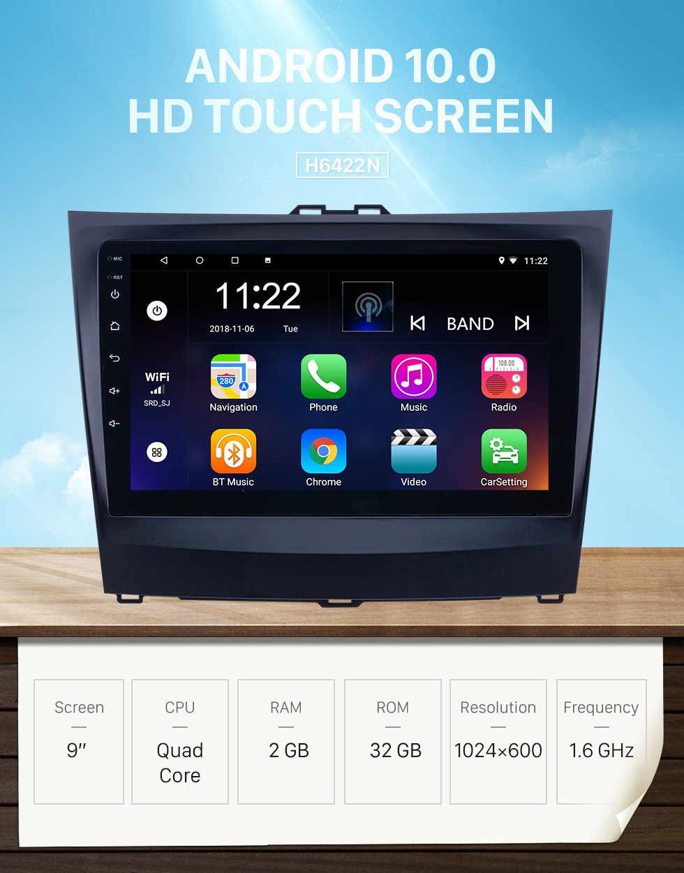 Seicane Android 10.0 9 inch HD Touchscreen GPS Navigation Radio for 2014-2015 BYD L3 with Bluetooth WIFI AUX support Carplay DVR OBD2