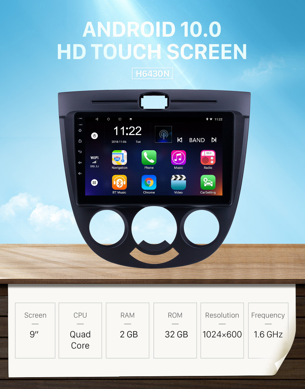 Seicane 9 inch Android 10.0 for Buick Excelle HRV Radio With HD Touchscreen GPS Navigation Bluetooth support Carplay Digital TV