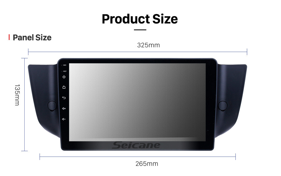 Seicane 9 inch Android 10.0 GPS Navigation Radio for 2010-2015 MG6/2008-2014 Roewe 500 With HD Touchscreen Bluetooth support Carplay Rear camera