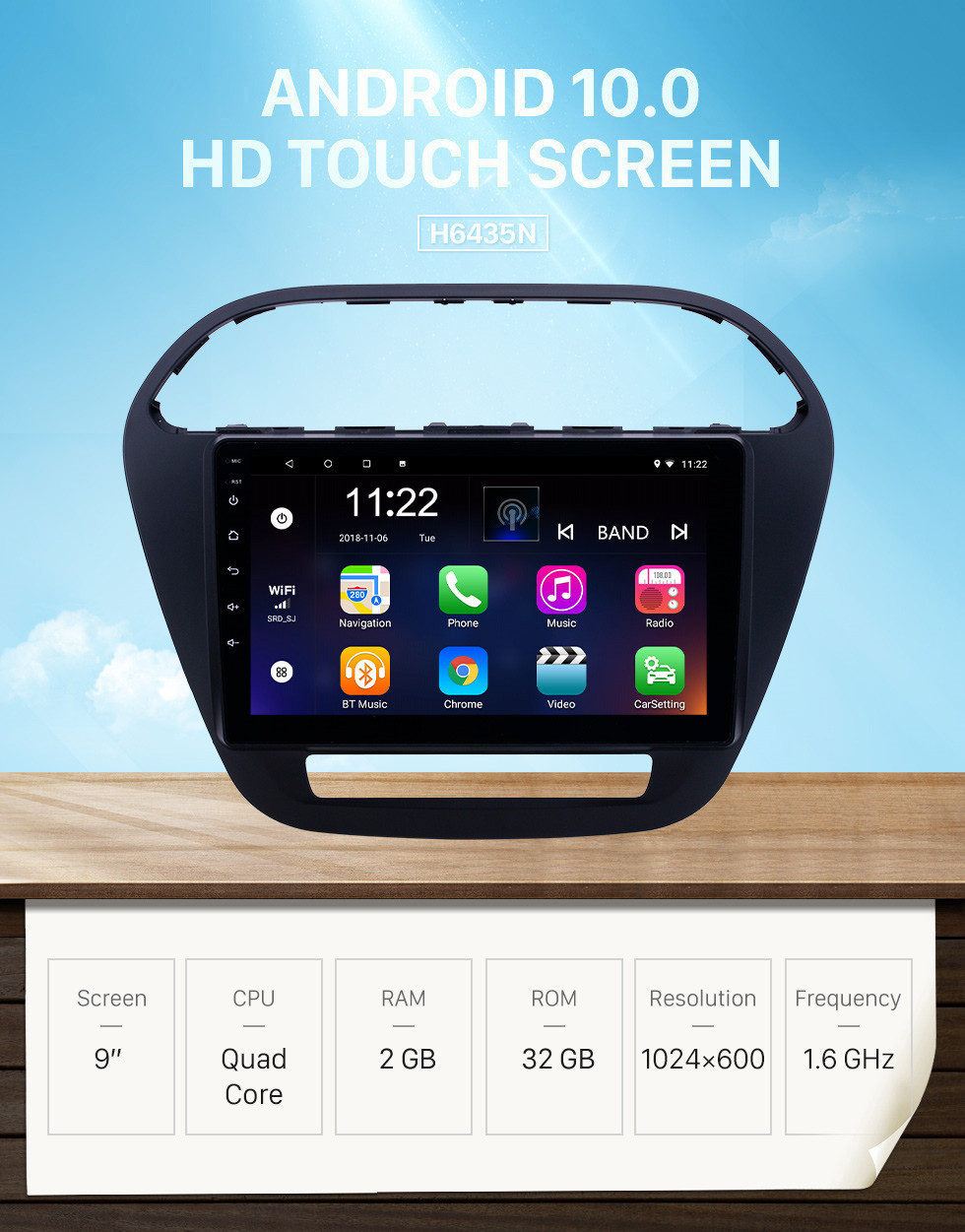 Seicane 2019 Tata Tiago/Nexon Android 10.0 HD Touchscreen 9 inch GPS Navigation Radio with USB WIFI Bluetooth support SWC DVR Carplay