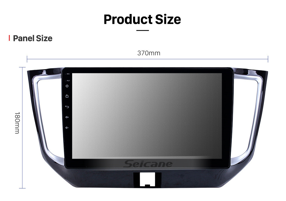 Seicane 10.1 inch Android 10.0 GPS Navigation Radio for 2015-2017 Venucia T70 With HD Touchscreen AUX Bluetooth support Carplay OBD2